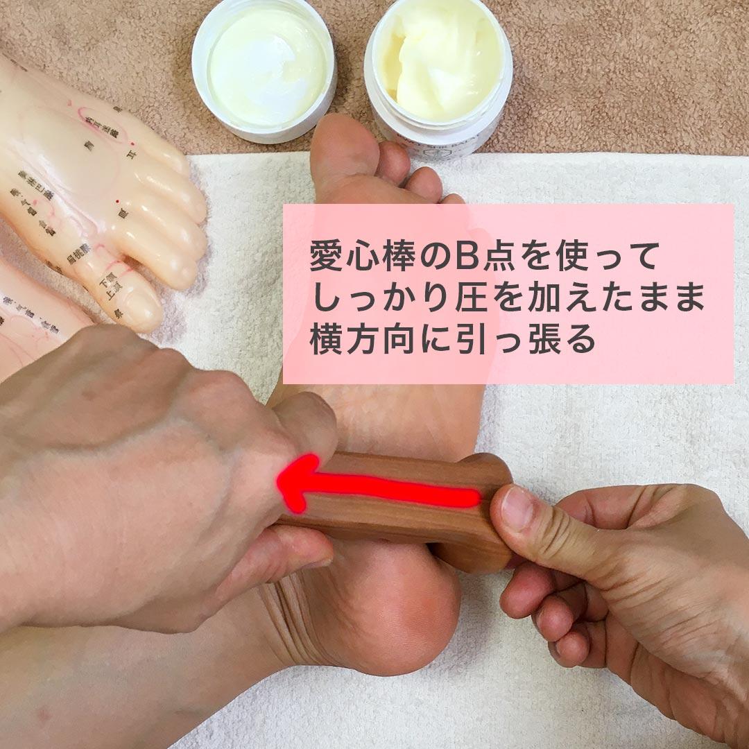 No.31「直腸」の反射区のセルフケア
